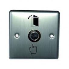 Accesoriu control acces PXW B-801L, Buton metalic iesire, NO/NC, led, 85x85mm