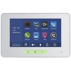 Monitor videointerfon V-tech DT37 Touch, Compatibil seria DT, Display TFT color 7'', Conexiune 2 fire, Alb