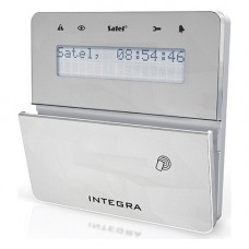 Tastatura alarma Satel INT-KLFR-SSW, LCD, Cititor de proximitate, Compatibila INTEGRA, Gri