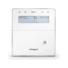 Tastatura alarma Satel INT-KWRL2-WSW, wireless (ABAX 2) pentru  INTEGRA si INTEGRA PLUS, cititor de proximitate, alba