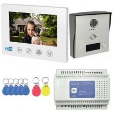 Kit Videointerfon KrugTechnik KR-VDP72K, Post exterior camera color, Post interior LCD 7 inch, Sursa alimentare