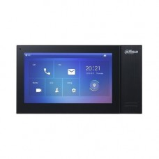Monitor videointerfon Dahua VTH2421FB-P, IP touch screen 7 inch 1024x600, IPC surveillance, Audio bidirectional, Alarma 6/1, SD 8GB, PoE, negru