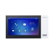 Monitor videointerfon Dahua VTH2421FW-P, IP touch screen 7 inch 1024x600, IPC surveillance, Audio bidirectional, Alarma 6/1, SD 8GB, PoE, alb